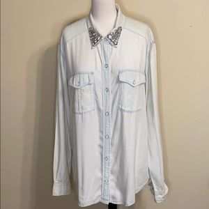 Victoria's Secret Denim Light Wash Flannel